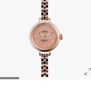 Shinola nwt rose gold woman's watch